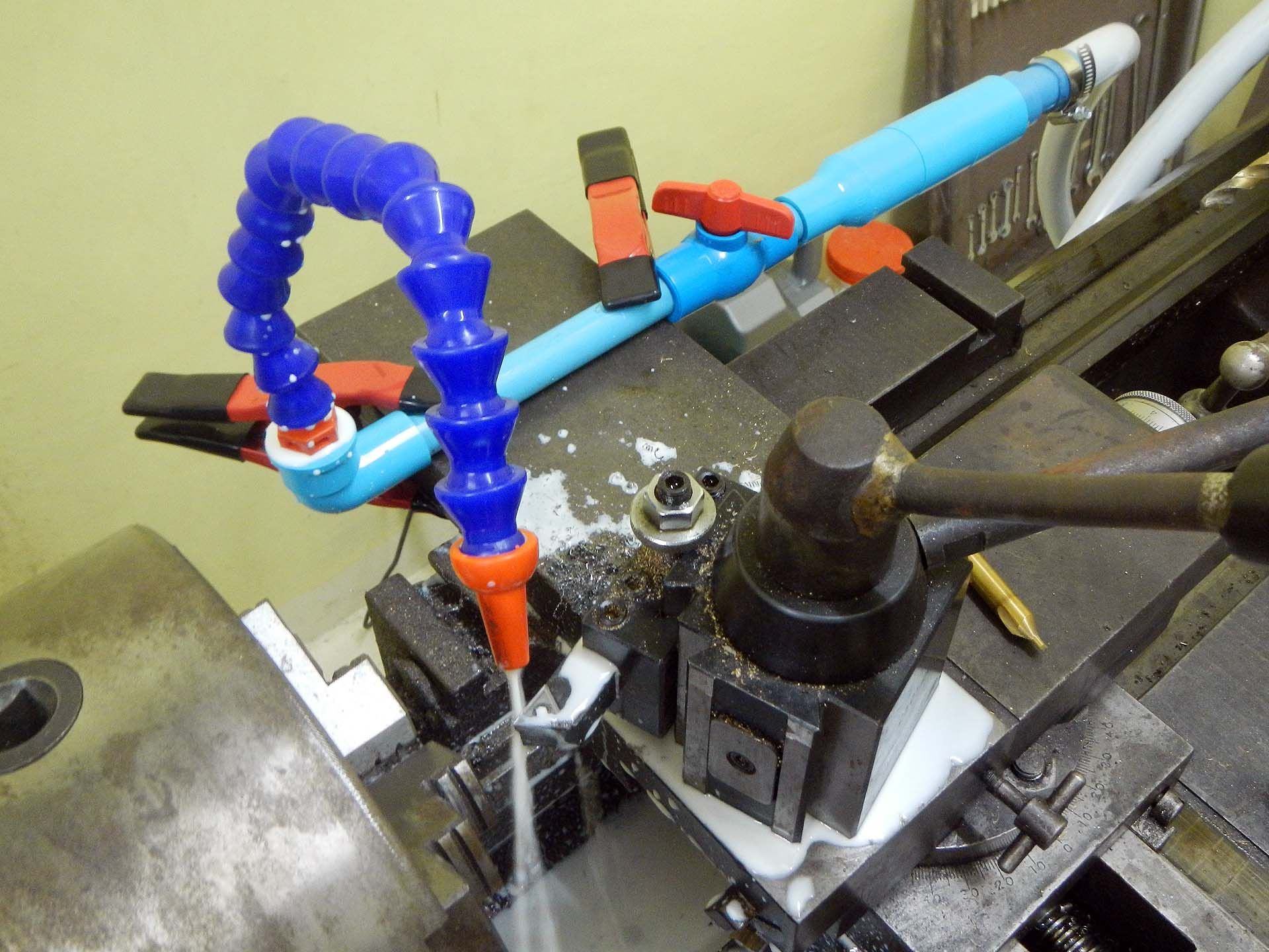 Machine Tool Coolant Systems : Custom radiator lathe cooling suspension progress