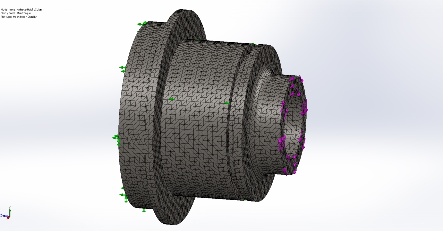 Adapter FEA Mesh