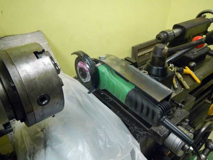 Grinder on Lathe